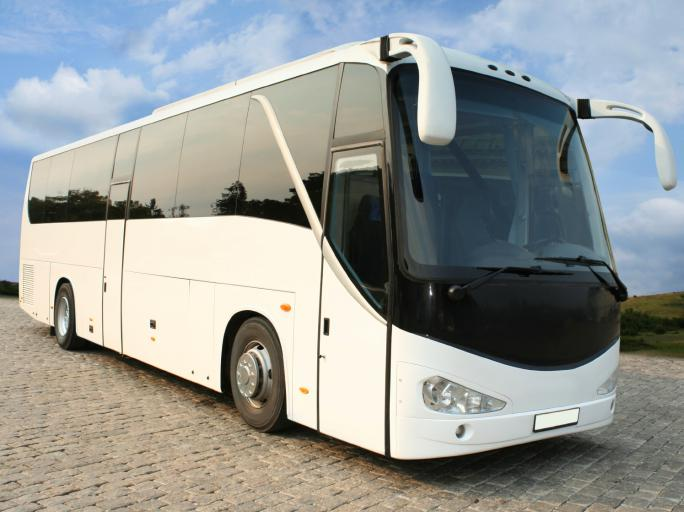 White Charter Bus Rental